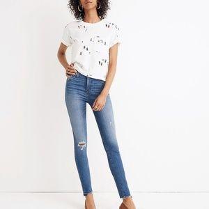 "NWT Madewell 10"" high rise skinny drop hem jeans"